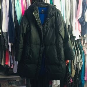 Gap Black Puffer Coat XL